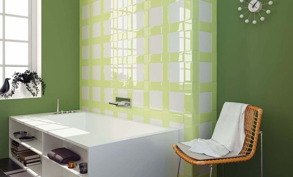 Bagni piastrelle verdi design casa creativa e mobili - Piastrelle bagno verdi ...