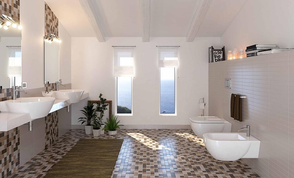 Bagni da sogno colorati design casa creativa e mobili for Bagni rivestimenti e pavimenti