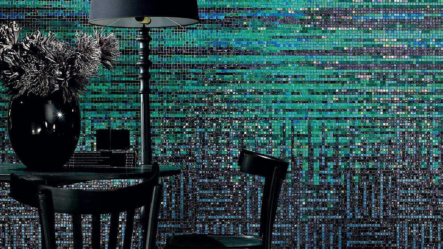 Mosaico-vetroso-verde-astratto