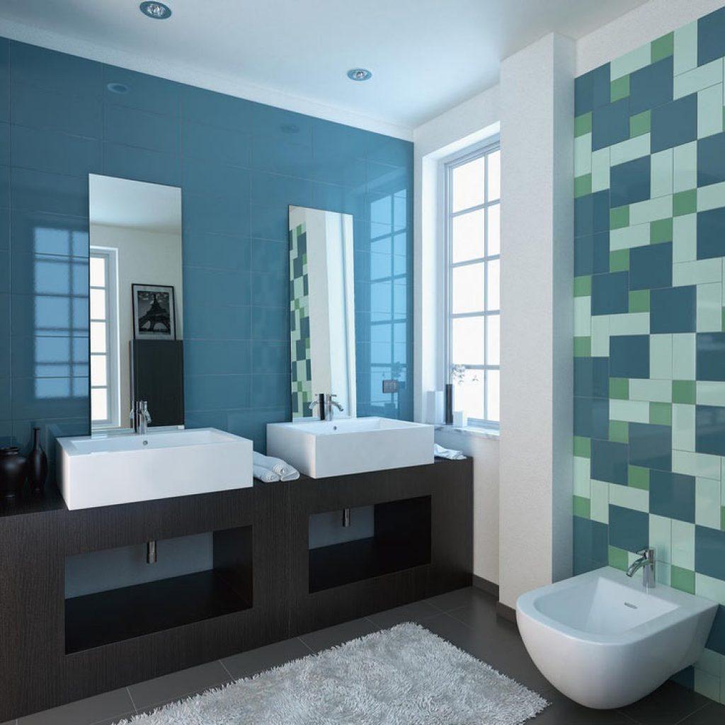 Verde mare bagno tutte le immagini per la progettazione - Piastrelle bagno verde ...