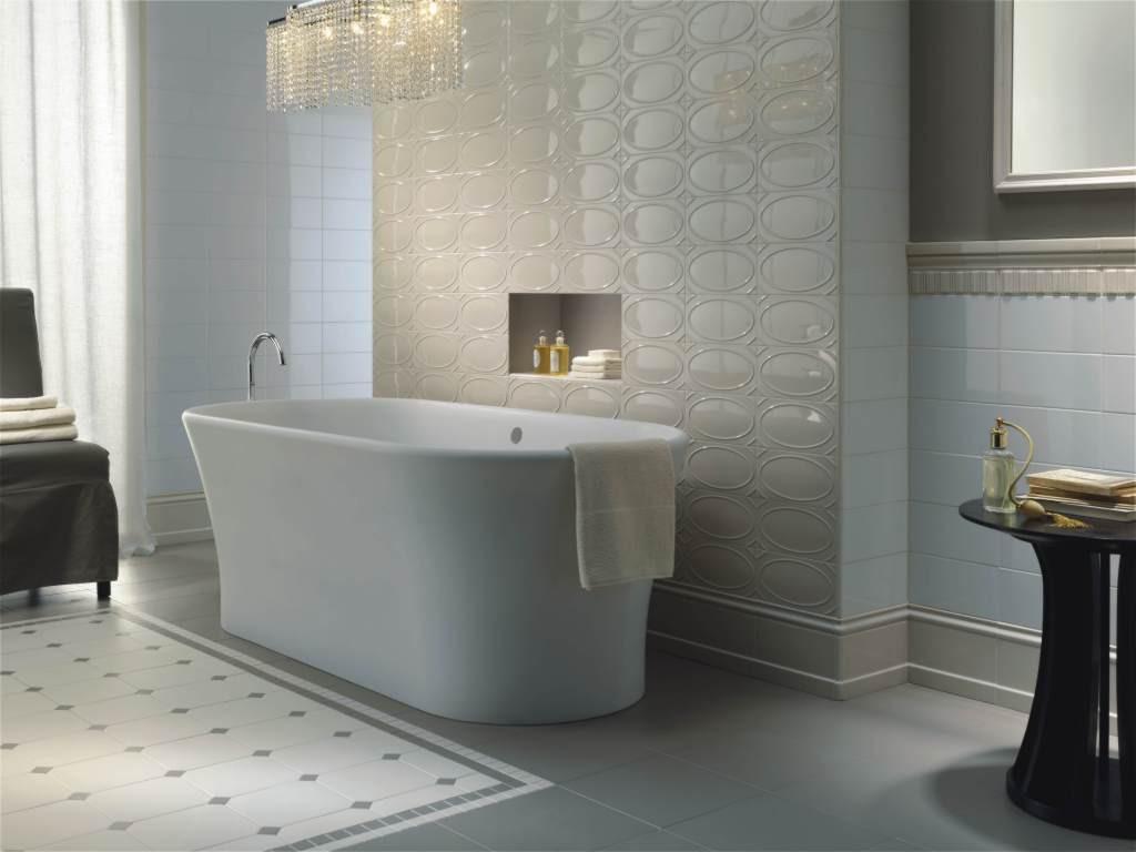 Soluzioni per lampadari decentrati - Ceramiche bagno classico ...