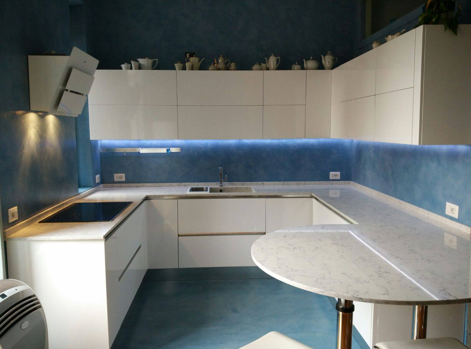cucina color cemento ~ ispirazione design casa - Top Cucina In Resina