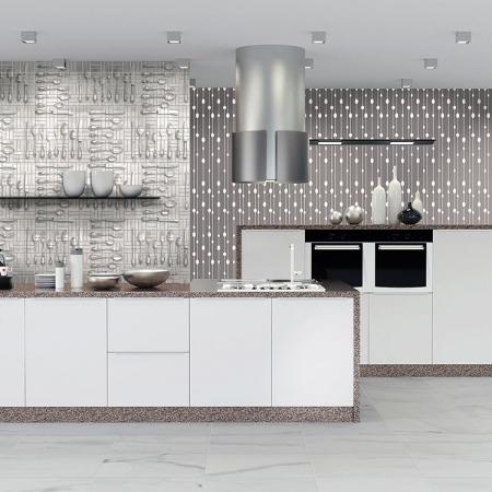 Carta da parati impermeabile per cucina boiserie in for Carta adesiva lavabile per cucina