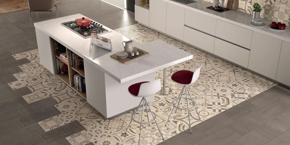 Pavimenti gres porcellanato effetto legno marmo pietra - Piastrelle cucina pietra ...